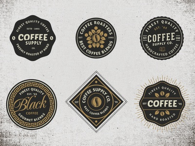 Vintage Coffee Badges vintage badge coffee typography