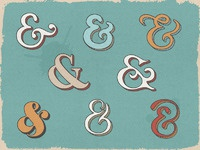 Handy ampersands font examples