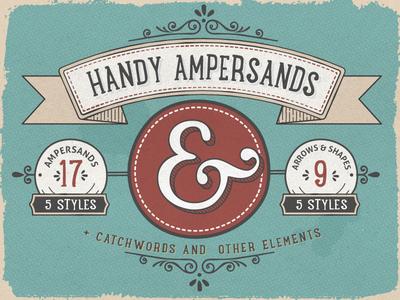 Handy Ampersands Font font ampersand vintage handy ampersands