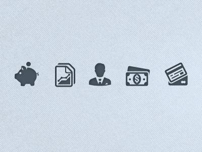 Simplicity Business & Finance icon icon set monochrome iphone vector ui business finance