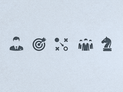 Business icon icon set monochrome vector business chess businessmen team strateg target