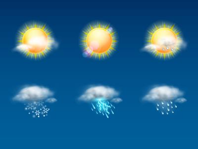 Weather Icon Set weather icon icon set cloud sun rain snow storm fog wind
