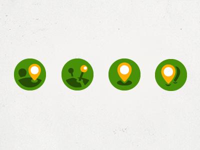 Location icon map pin icon