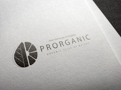 Proganic Logo Design graphic design art icon minimal flat vector illustration design branding logo
