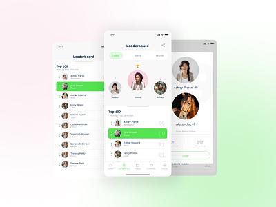 Equestrian leaderboard app mobile leaderboard horses ui