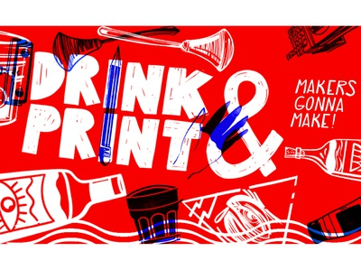 Poster for ' Drink & Print' event