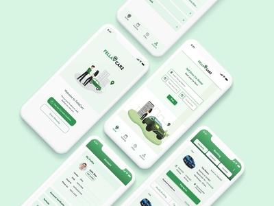 Car Rental App clean mobile self driving rental app car type art flat illustration minimal vector ux ui design app