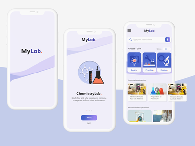 Instructional Design in Virtual Science Labs laboratory ar chemistry lab science figma art mobile clean minimal app vector ux ui illustration flat design