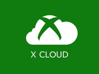 X Cloud logo concept