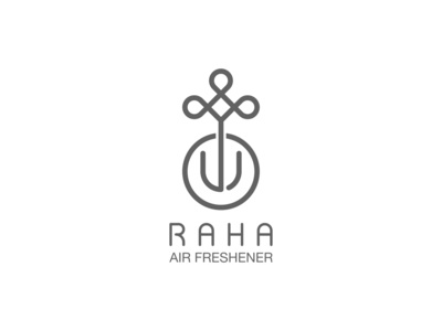 RAHA AirFreshener Logo Design spray perfume cosmetics logo cosmetics airfreshener icon branding illustration design minimal logo