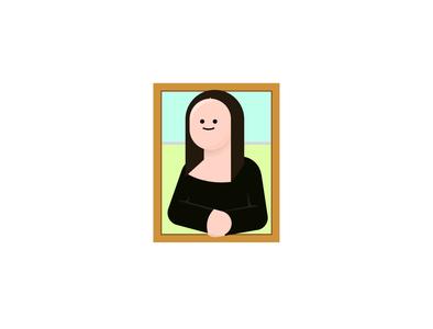 Mona Lisa from Da Vinci illustration