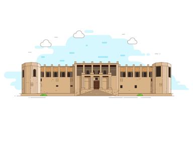 Bushehr Malek Mansion  Illustration
