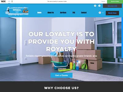 Cleaning Business Website Design website design logo ui design wixiweb wix website design wix