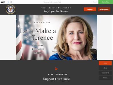Political website design for Client clean design creative adobexd website design