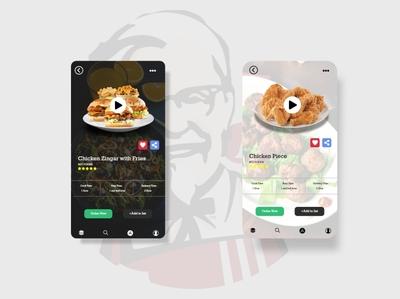 Food Screen  Design