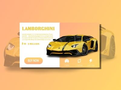 Lamborghini Car landing Page