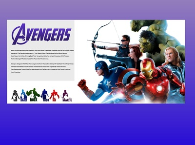 Avengers Landing Page Design