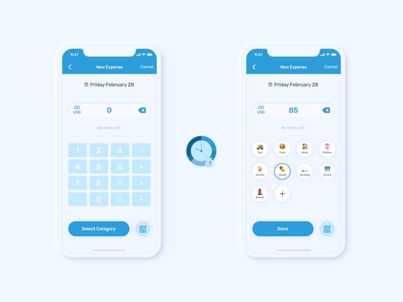 New UI concept for Monefy App