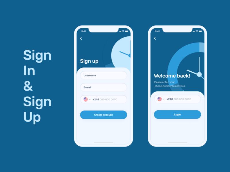 Sign In&Sign Up concept for Money Management App