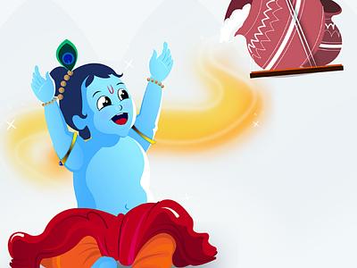 Little Krishna illustration adobe illustrator