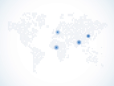World map with highlighted locations smooth maps dotted map uidesign pulse ui location animation mapdesign
