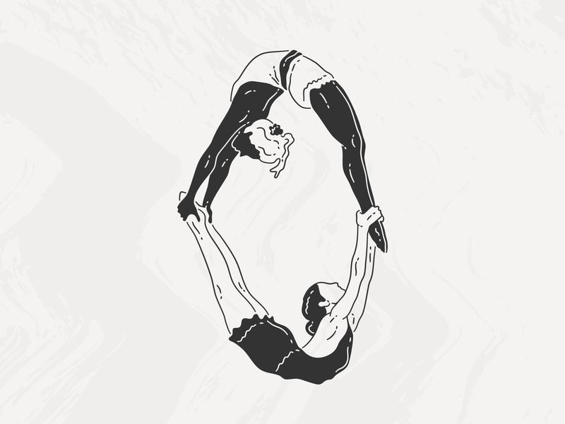 Trapeze linework drawing challenge movement bodymovin trapeze ipad pro affinity designer illustration