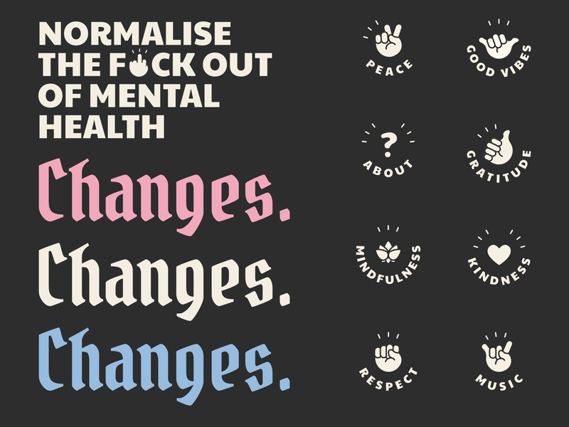 Changes icons & ident ipad pro affinity designer vibes good vibes awareness mental health awareness mental health instagram social media thumnails icons icons set illustration