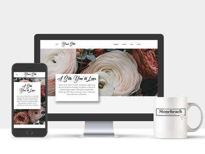 Floral Website Mockup