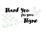 Thank You for Your Thyme