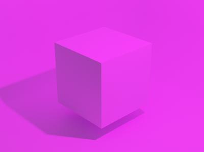 pink cube blender