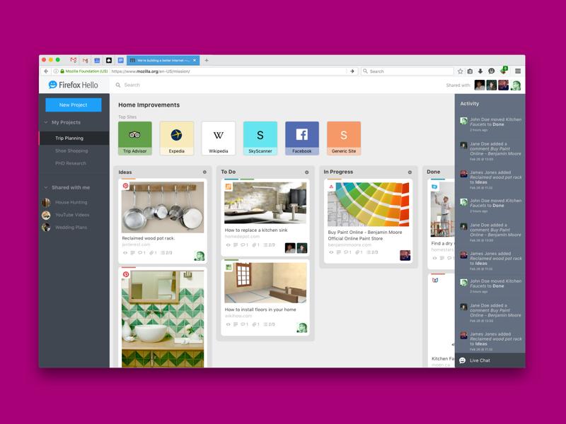 #Rooms Concept 5 product design concept interaction ux ui mozilla