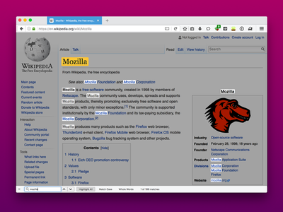 Find In Page browsers search ui firefox ux mozilla
