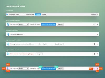Translation Infobar Update buttons content web language translation bars info notifications firefox ux mozilla