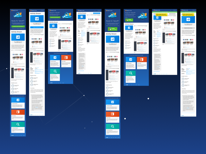 Test Pilot Responsive Layouts website html layouts tablet mobile responsive ui firefox ux mozilla