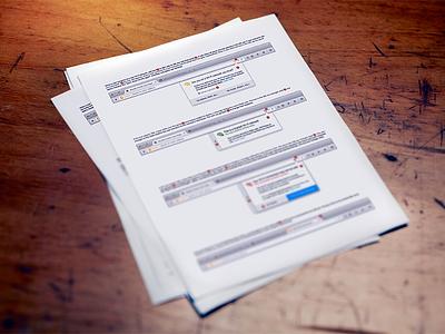 Interaction Documentation design interaction print-out print documentation document paper ui firefox ux mozilla