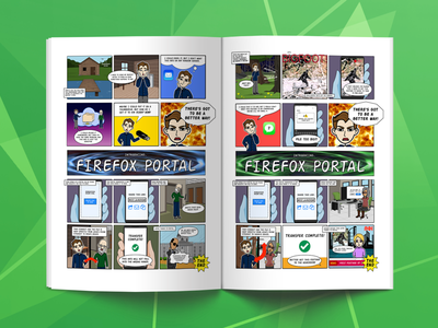 Firefox File Sharing User Stories storyboard cartoon comicbook book comicstrip strip comic products ux ui browsers firefox