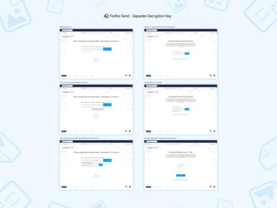 Firefox Send - Separate Decryption Key