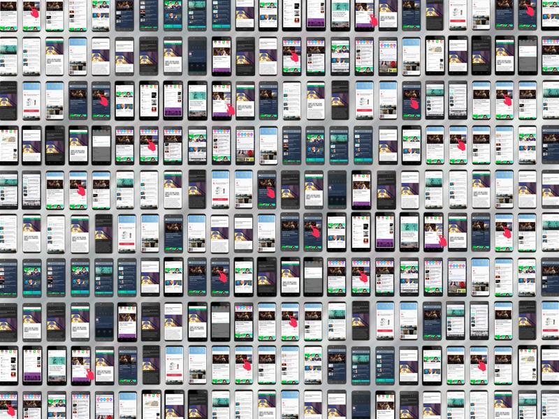 Mobile Pocket Mocks swipe variation design android phone pocket mozilla ux ui
