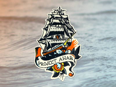 Project Ahab sailor sailing sail boat browser firefox tattoo illustration graphic ships boats stickers