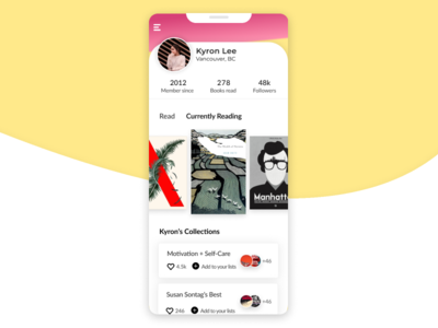 Daily UI 006 // User Profile uxdesign app design daily ui 006 user profile ui ux interaction design figmadesign dailyui