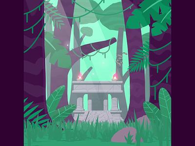 Jungle Woodkids - Ping Pong Club #9 koroks zelda breath vines jungle amazonia temple illustration art direction animation cinema 4d after effects motion design gif