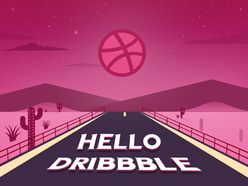 Hello Dribbble! illustration branding typography hello dribble hello