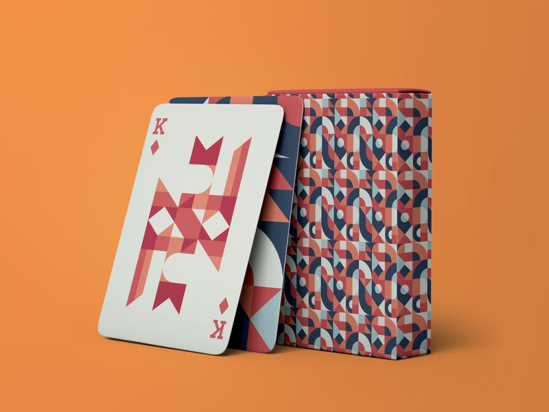Playing Cards Design - Geometric and Abstract mockup mockups mock up mock-up design art minimal minimalism cards design playing cards playingcards playing card playing card design cards card illustration illustrator vector modern design