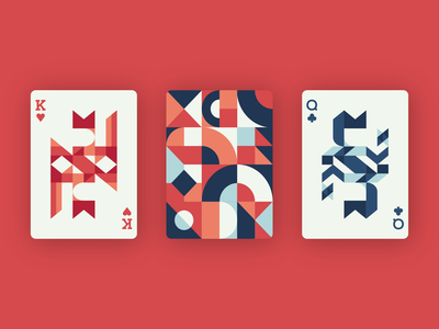 Playing Cards Design - Geometric and Abstract geometry abstraction geomteric design geometric design abstract design abstract art abstract shapes geomteric card design cards design cards playing cards playingcards playing card colorful illustration illustrator vector minimal