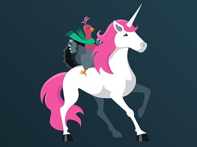 Cold Turkey is a Myth - Unicorns unicorn 2d illustration