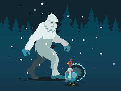 Cold Turkey is a Myth - Yeti yeti 2d illustration