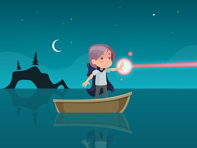 Rune games concept art illustration 2d character design