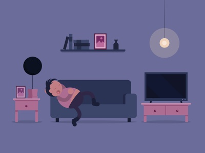 Lazy Sunday game art game ios android character design flat 2d illustration