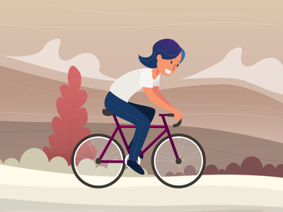 Healthy Lifestyle mobile illustration character design concept art
