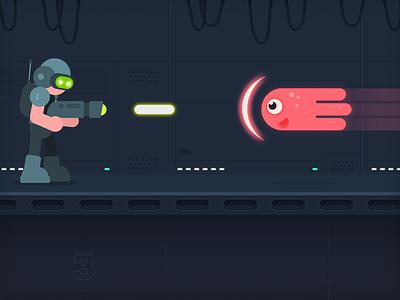 Mars X illustration vector space mobile flat character design game art unity artist sidescroller 2d unity